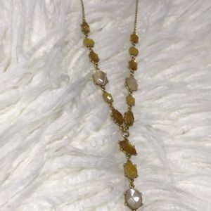 Lucky Brand natural stone statement necklace